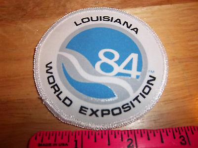 Louisiana World Exposition 84 Embroidered patch, sublimation style print