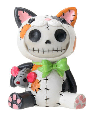 FurryBones Mao-Mao Figurine Calico Gothic Cool Skeleton Cat Kitten Skull Gift