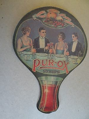 1930's vintage   PURE-OX  SYRUPS   litho advertising    HORLACHER Co.