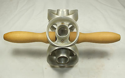 6 Hole Houpt 2 3/4 inch Glazed Donut Maker/Cutter with wood handles