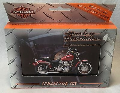 1999  HARLEY-DAVIDSON Sealed Playing Cards w/ Collectors Tin lmtd. edition