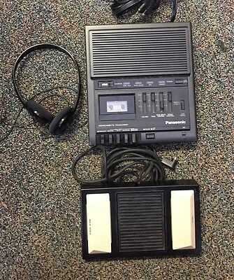 Panasonic Microcassette Transcriber Recorder w/ Foot Pedal RR-930 TESTED WORKS