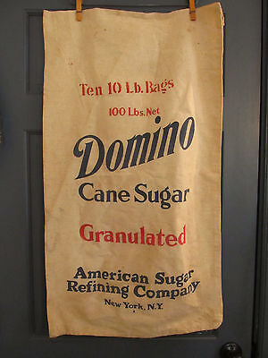 Vintage DOMINO American Sugar Refining Co Sack 20 x 35 New York NY