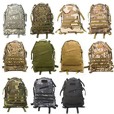 hot Molle 3D Tactical Outdoor Military Rucksack Backpack Bag Camping  Hiking 40L