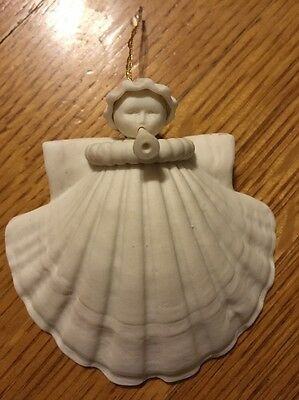 Vintage Margaret Furlong Trumpeter Angel with Horn Porcelain Ornament + Box 1988