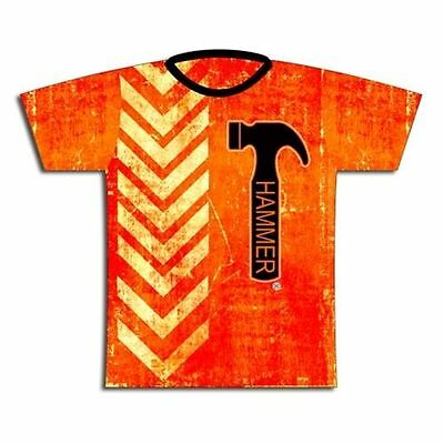 Hammer Orange Thread Dye-Sublimated Bowling Jersey NEW!