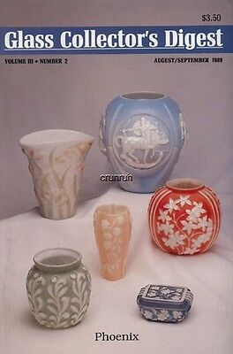 Glass Collector's Digest Aug/Sep '89, Jadite, vaseline, Phoenix, Consolidated