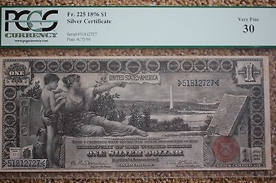 1896 $1 Silver Certificate *EDUCATIONAL NOTE* PCGS 30, Fr 225   Bruce Roberts
