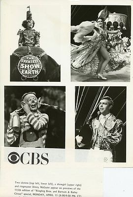 Dinny Mcguire Clowns Ringling Bros And Barnum & Bailey Circus 1985 Cbs Tv Photo