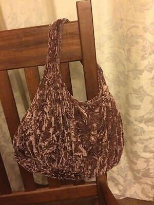 Soft Material Crushed Fabric  ❤  Crinkled Velour Hobo Bag *14x22 Graduation Gift