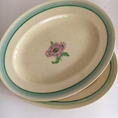 Clarice Cliff Sundew set of Two (2) Large Oval Serving Platters No 7159