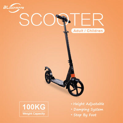 Newsale 200mm Big Wheels Adult Scooter Push Scooter With Suspension Adult Child