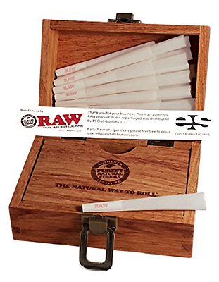 RAW Organic 1 1/4 Pure Hemp Pre-Rolled Cones With Filter (75 Pack + Special...