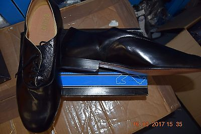 Black leather oxford Bloch BL309 ballroom/latin dance shoes - size UK 8