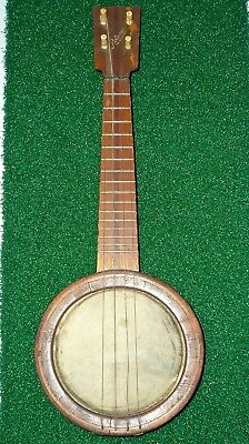 Rare Antique ROLANDO Mini BANJO Ukulele <Marked April 22, 1916 - Musical History