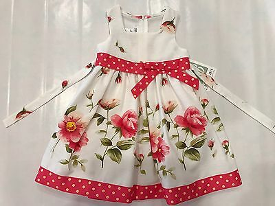 Bonnie Jean Size 2T Toddler Girls Wedding Party Church Easter Spring Dress