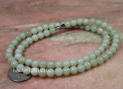 Light Green 100% Natural A JADE JADEITE Bead Beads Necklace 8 mm 20 inches