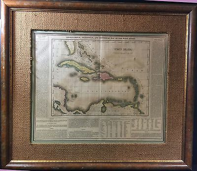 Antique Map--Geographical, Statistical, And Historical Map Of The West Indies