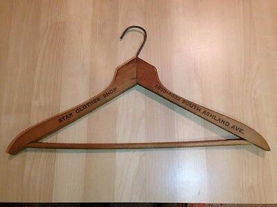 Vintage Wood Advertising Hanger - Star Clothes Shop, Chicago