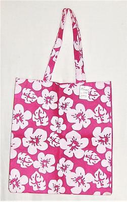 New Lg Pink Floral Reusable Eco Friendly Shopping Bag Tote Shopper-Grocery