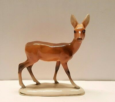 Vtg Grindley Artware Ohio pottery large standing deer figurine