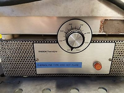 Thermolyne 2200 Hot Plate Model: HPA2230M 240v 1600W Used Works
