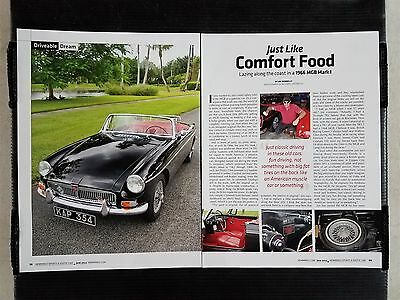 1966 MGB Mark 1  - 4 Page Article - Free Shipping