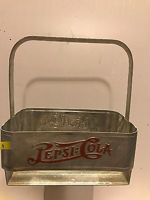 1940's pepsi=cola metal six pack carrier
