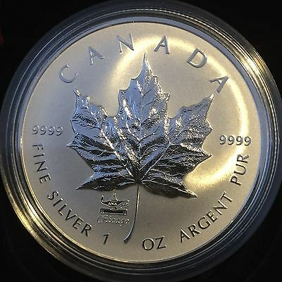 1 oz. Fine Silver Coin with ANA Privy Mark - Silver Maple Leaf - Mintage: 7,500
