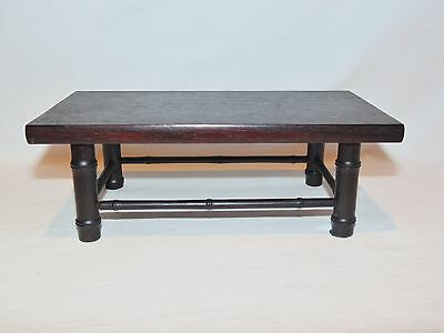 #19 Exceptional  Fine Early Chinese Hardwood Bamboo Design Low Table, Vase Stand
