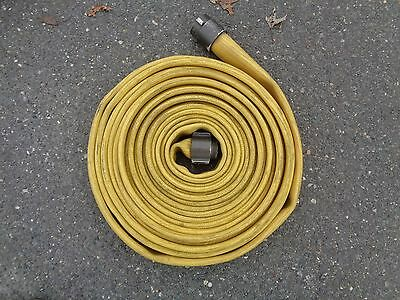 Fire Hose Water Supply Yellow Fire Hose With Couplers Length 50ft #1