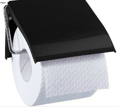 Ba6459 Blue Canyon Retro Toilet Roll Holder - Black [7013]