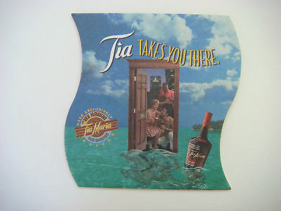 Cool Drink Coaster ~*~ TIA MARIA Liquor Made with Rich Jamaican Blue Mtn. Coffee