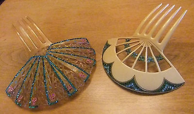 Vintage Celluloid Combs (2)