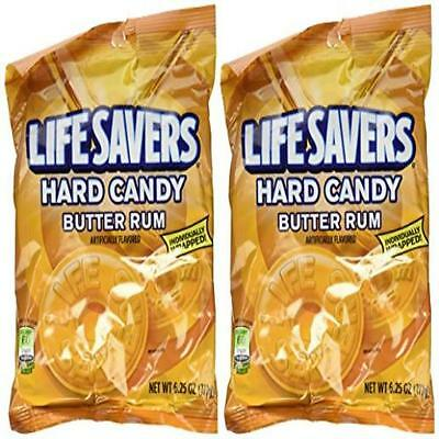 Lifesavers Candy, Individually Wrapped, Butter Rum 6.25 Oz (2 Pack) Life Savers