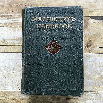 Vintage 1953 Machinery's Handbook 14th Edition Softcover Book Machine Manual