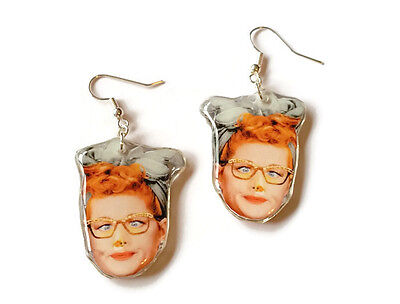 I love Lucy Lucille Ball Television Show Earrings Retro 50's Comedy classic