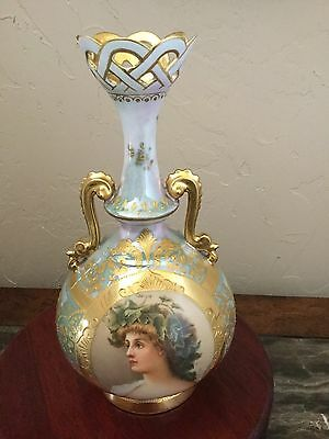 ROYAL VIENNA VASE with Hand painted Portrait- Excellent Condition