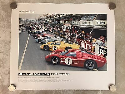 1967 Ford Shelby American Starting Grid Print Picture Poster RARE!! Awesome L@@K