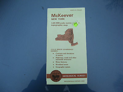 US Geological Survey topographic map metric New York USGS 1989 MCKEEVER FASTSHIP