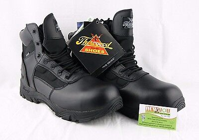"""Thorogood """"The Deuce"""" Men's Size 12 Black 6"""" Waterproof/Safety Work Boots"""