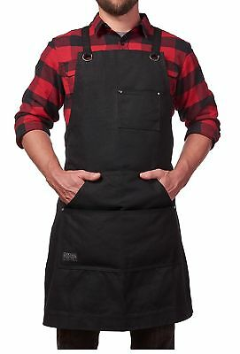 Heavy Duty Waxed Canvas Work Apron - 16 oz Durable Canvas FREE SHIPPING