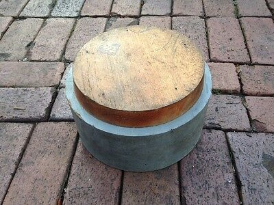 Antique Machine Age Industrial Wood Foundry Mold Pattern Steampunk Gray Paint