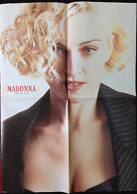 MADONNA / PET SHOP BOYS. BETTY BOO - LARGE FOLD OUT POSTER FROM 1980s SMASH HITS