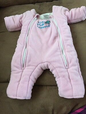 Baby Merlin's Magic Sleepsuit Small 3-6 Month Pink