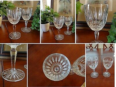 8 Water Goblets & 8 Wine Glasses Old Dublin, Mikasa, Sparkling Cut Crystal