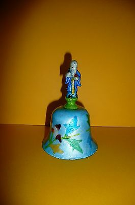 Antique Chinese Immortal Bell Enameled Silver