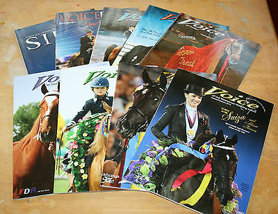 Lot of 9 Voice of the Tennessee Walking Horse magazines 2007, 2012, 2013, 2014