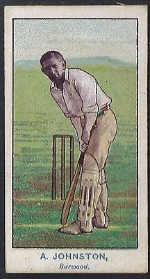 Wills-Australian Club Cricket Ers Blue Back(Brown Frame)- Johnston - Burwood