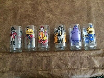 1976 McDonald's Glasses COMPLETE Vintage Set of 6